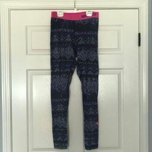 Purple Nike Line Leggings